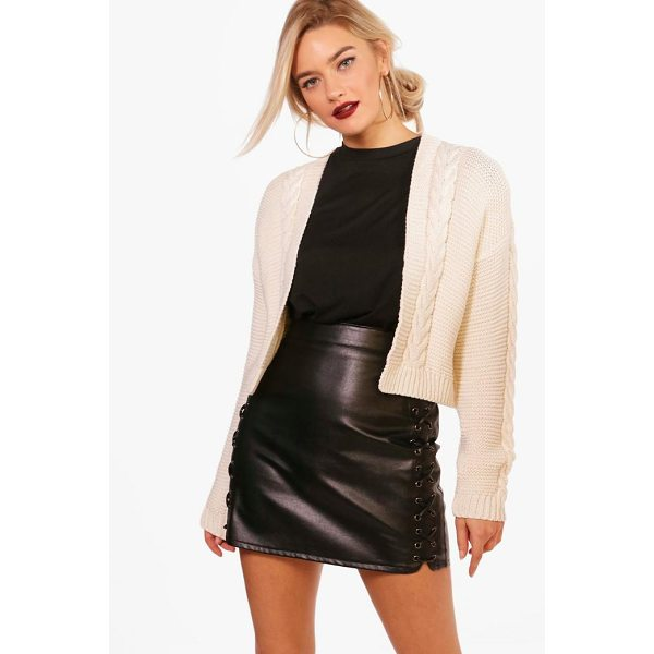 BOOHOO Millie Cable Knit Crop Cardigan - Nail new season knitwear in the jumpers and cardigans that...