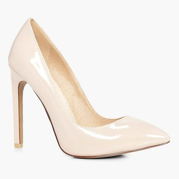 BOOHOO Millie High Heel Court Shoe Patent - We'll make sure your shoes keep you one stylish step ahead...
