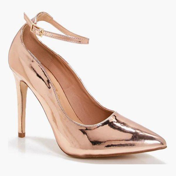 BOOHOO Millie Pointed Toe Ankle Band Courts - We'll make sure your shoes keep you one stylish step ahead...