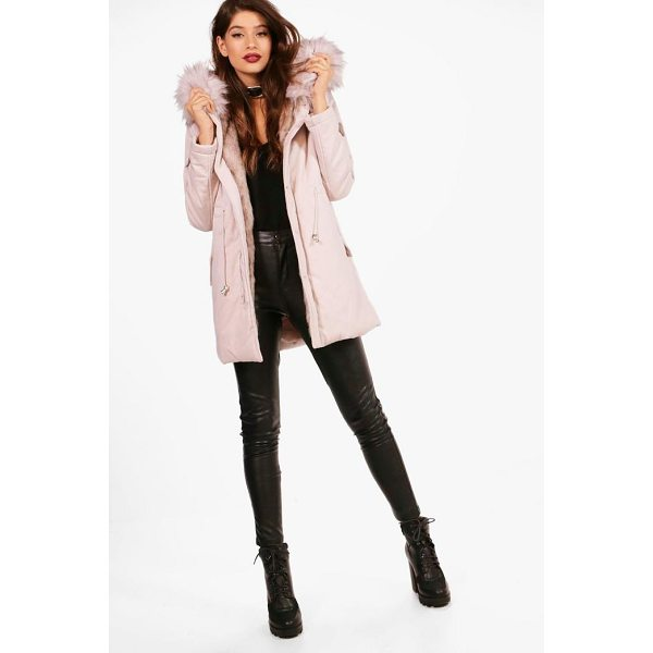 BOOHOO Milly Boutique Faux Fur Trim Parka - Wrap up in the latest coats and jackets and get out-there...