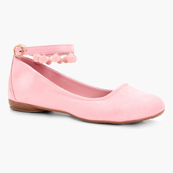 BOOHOO Minnie Pom Ankle Band Ballet - We'll make sure your shoes keep you one stylish step ahead...
