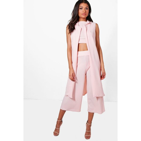 BOOHOO Misa 3 Piece Crop Culotte & Duster Co-Ord Set - Co-ordinates are the quick way to quirky this seasonMake...