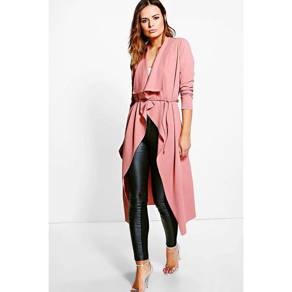 BOOHOO Molly Belted Midi Duster - Wrap up in the latest coats and jackets and get out-there...