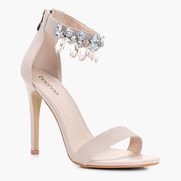 BOOHOO Molly Embellished ankle Band 2 Part Heels - We'll make sure your shoes keep you one stylish step ahead...