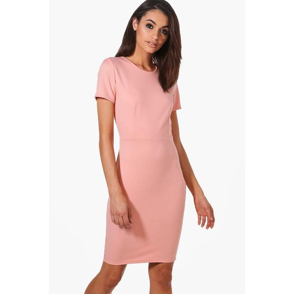 BOOHOO Molly Fitted Tailored Scuba Dress - Dresses are the most-wanted wardrobe item for day-to-night...