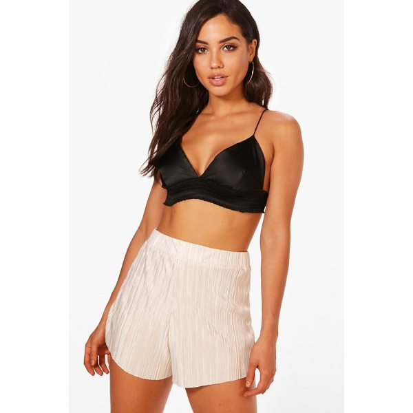 BOOHOO Molly Pleated Crinkle Shorts - No matter what the weather, look hot in denim shorts all...