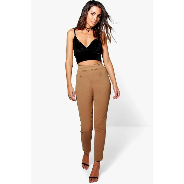 BOOHOO Naia High Waist Crepe Skinny Stretch Trousers - Show 'em what you're working with in style with the classic...
