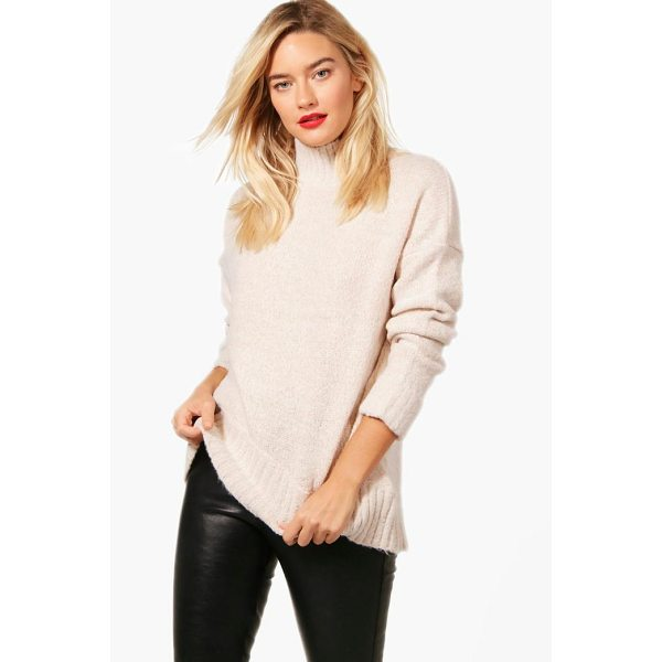 BOOHOO Natalie Soft Knit Funnel Neck Jumper - Nail new season knitwear in the jumpers and cardigans that...