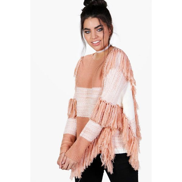 BOOHOO Natalie Tassel Jumper - Nail new season knitwear in the jumpers and cardigans that...