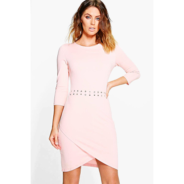 BOOHOO Natasha Lace Up Bodycon Dress - Pared back day dresses are the perfect base for layering up...