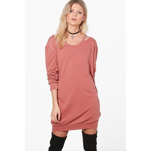 BOOHOO Niamh Cut Out Detail Sweat Dress - Dresses are the most-wanted wardrobe item for day-to-night...