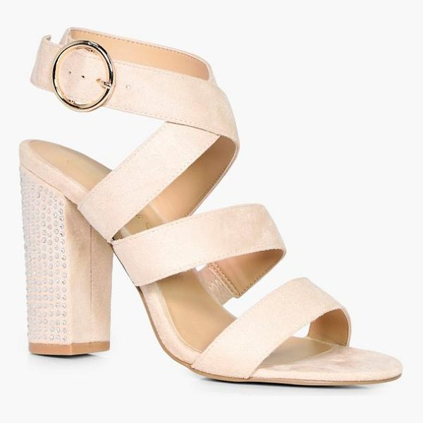BOOHOO Niamh Strappy Sandal With Embellished Heel - We'll make sure your shoes keep you one stylish step ahead...