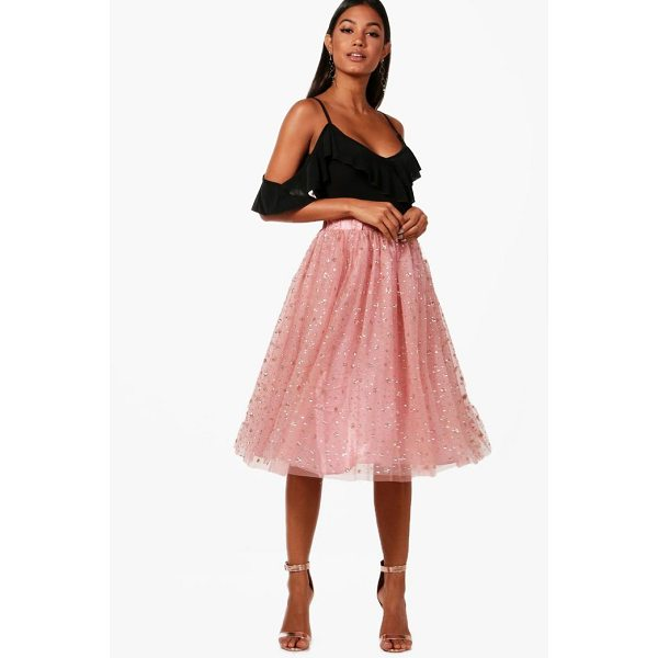 BOOHOO Nichole Tulle Star Midi Skirt - Skirts are the statement separate in every wardrobe This...