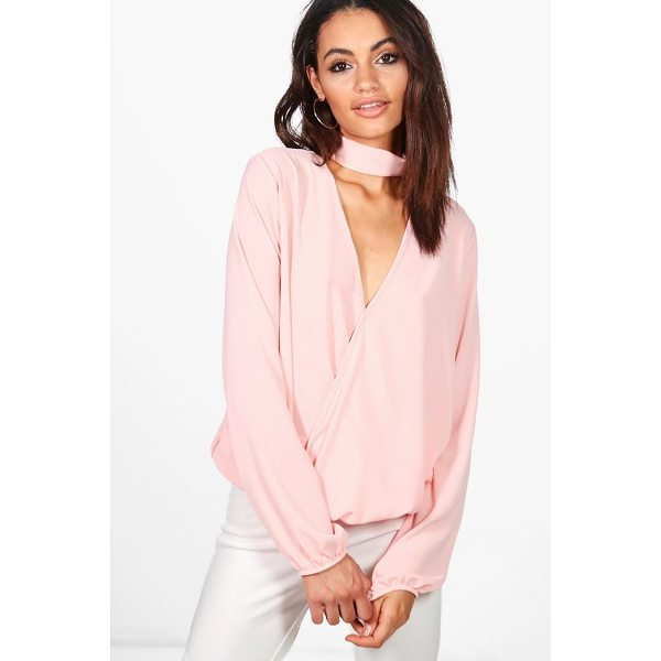 BOOHOO Nora Premium Choker Neck Blouse - Steal the style top spot in a statement separate from the...