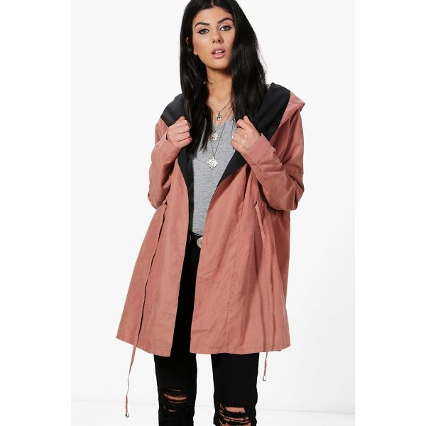 BOOHOO Oana Shawl Hood Utility Unlined Parka - Wrap up in the latest coats and jackets and get out-there...