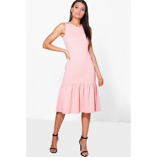 BOOHOO Olivia Drop Waist Peplum Shift Dress - Dresses are the most-wanted wardrobe item for day-to-night...