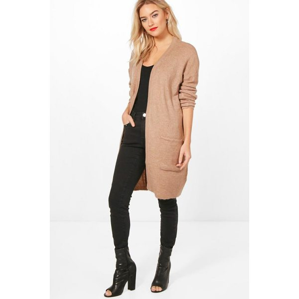BOOHOO Olivia Edge To Edge Cardigan - Nail new season knitwear in the jumpers and cardigans that...