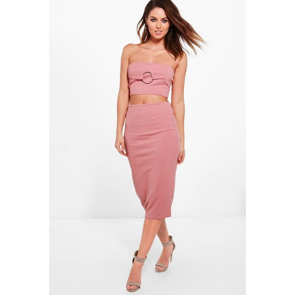 BOOHOO Olivia O Ring Bandeau & Midi Skirt Co-Ord - Co-ordinates are the quick way to quirky this seasonMake...