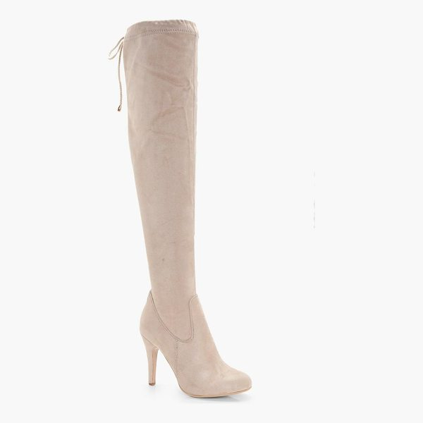 BOOHOO Olivia Tie Back Over the Knee Boot - We'll make sure your shoes keep you one stylish step ahead...