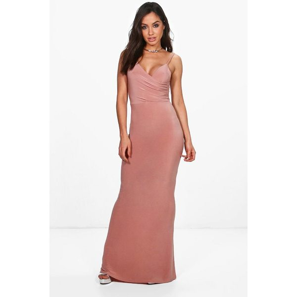 BOOHOO Orla Drape Top Slinky Maxi Dress - Dresses are the most-wanted wardrobe item for day-to-night...