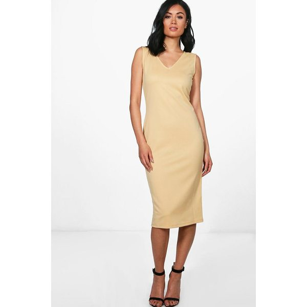 BOOHOO Orlagh V Neck Sleeveless Midi Dress - Dresses are the most-wanted wardrobe item for day-to-night...