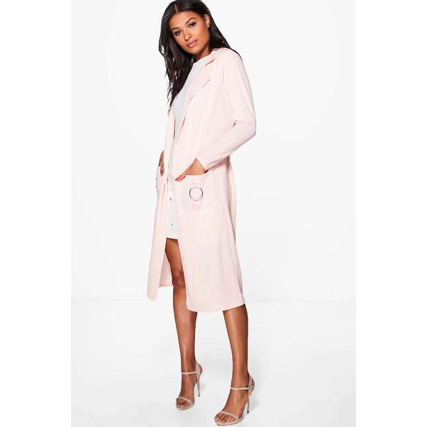 BOOHOO Phoebe O-Ring Pocket Duster - Wrap up in the latest coats and jackets and get out-there...
