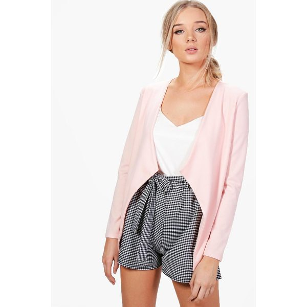 BOOHOO Poppy Shawl Collar Ponte Blazer - Wrap up in the latest coats and jackets and get out-there...