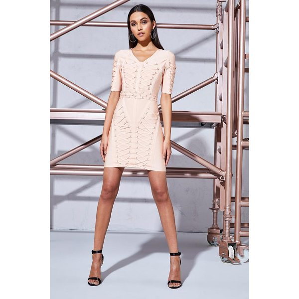 BOOHOO Premium Laura Bandage Gold Beaded Bodycon Dress - Dresses are the most-wanted wardrobe item for day-to-night...