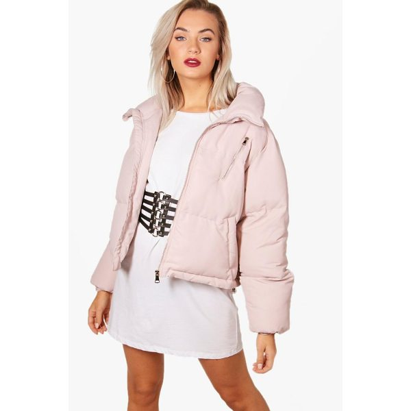 BOOHOO Rebecca Funnel Neck Padded Jacket - Wrap up in the latest coats and jackets and get out-there...