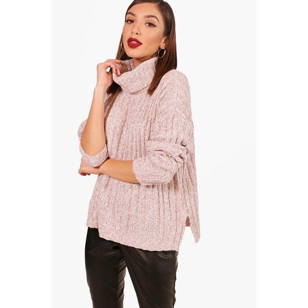 BOOHOO Rebecca Roll Neck Rib Knit Jumper - Nail new season knitwear in the jumpers and cardigans that...