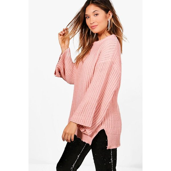 BOOHOO Rebecca Wide Sleeve Chenille Jumper - Nail new season knitwear in the jumpers and cardigans that...
