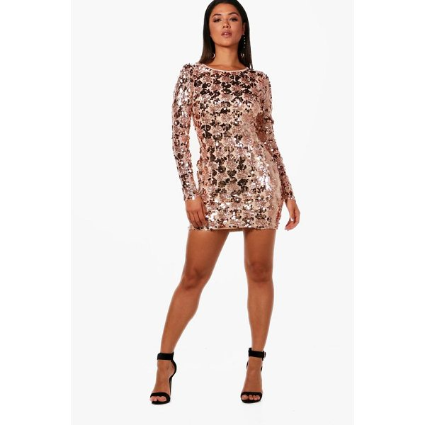 BOOHOO Rose Sequin Lace Up Back Bodycon Dress - Dresses are the most-wanted wardrobe item for day-to-night...