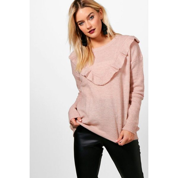 BOOHOO Rosie Ruffle Yoke Jumper - Nail new season knitwear in the jumpers and cardigans that...