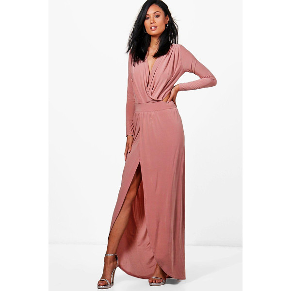 BOOHOO Rosina Wrap Open Back Maxi Dress - Dresses are the most-wanted wardrobe item for day-to-night...