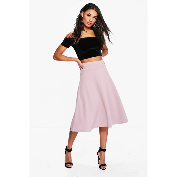 BOOHOO Royah Deep Waistband Full Midi Skirt - Forget your jeans and opt for a day skirt on your weekends....