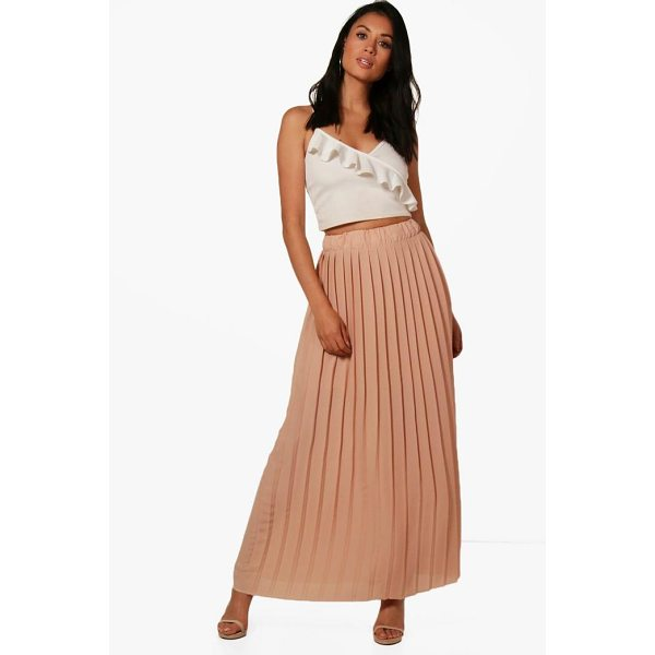 BOOHOO Ruby Pleated Chiffon Maxi Skirt - Skirts are the statement separate in every wardrobe This...