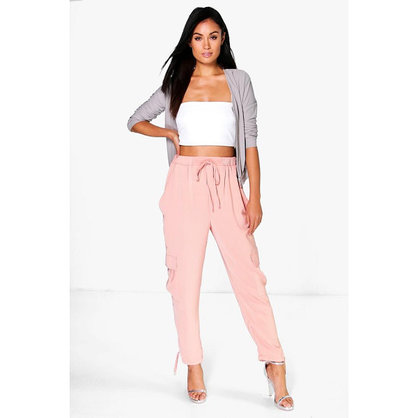 BOOHOO Saffi Pocket Side Woven Utility Trousers - Trousers are a more sophisticated alternative to...