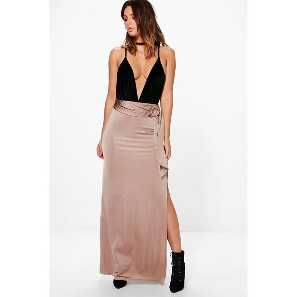 BOOHOO Samira O Ring Thigh Split Full Maxi Skirt - Skirts are the statement separate in every wardrobe This...