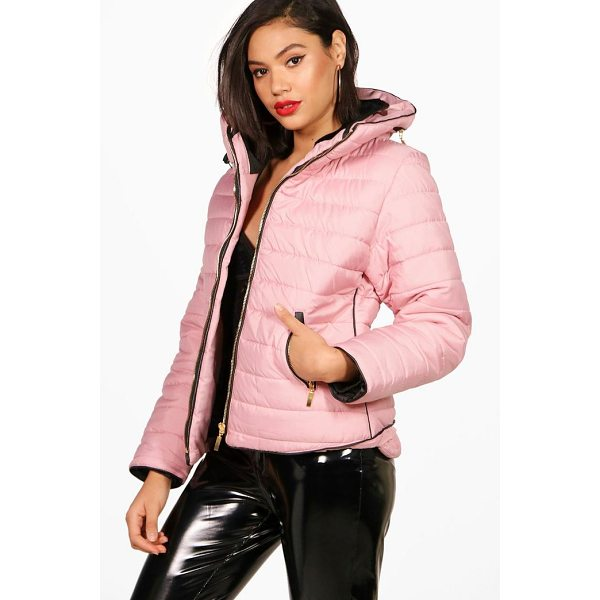 BOOHOO Sara Quilted Jacket - Wrap up in the latest coats and jackets and get out-there...