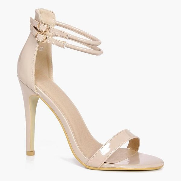 BOOHOO Sarah Double Ankle Band 2 Part Heels - Strappy, caged, laced-up, or adorned in stand-out...