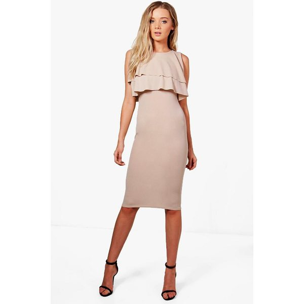 BOOHOO Sarah Midi Ruffle Dress - Dresses are the most-wanted wardrobe item for day-to-night...