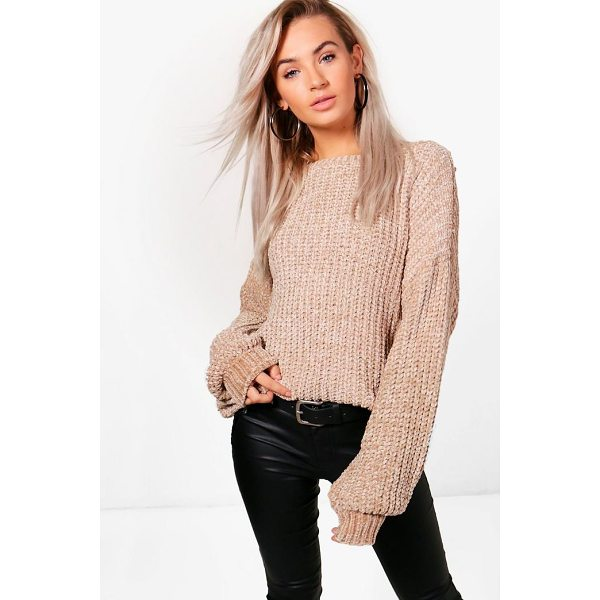 BOOHOO Sarah Oversized Chenille Jumper - Nail new season knitwear in the jumpers and cardigans that...