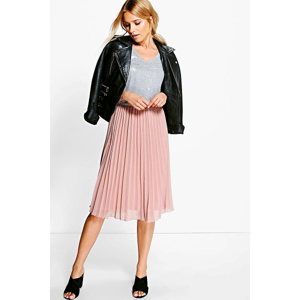 BOOHOO Savannah Chiffon Pleated Midi Skirt - Skirts are the statement separate in every wardrobe This...