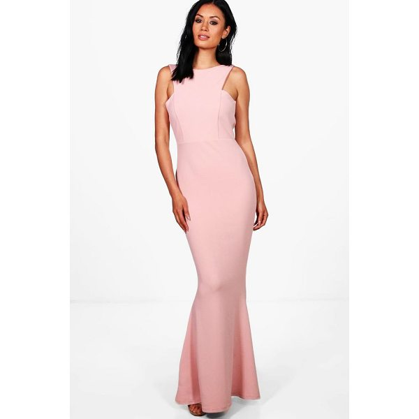 BOOHOO Sena Cutaway Neckline Fishtail Maxi Dress - Dresses are the most-wanted wardrobe item for day-to-night...