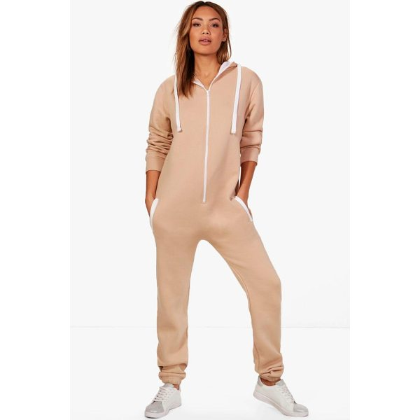 BOOHOO Serena Contrast Pocket & Tie Zip Up Onesie - Stay cosy this season with a onesieThe onesie has fast...