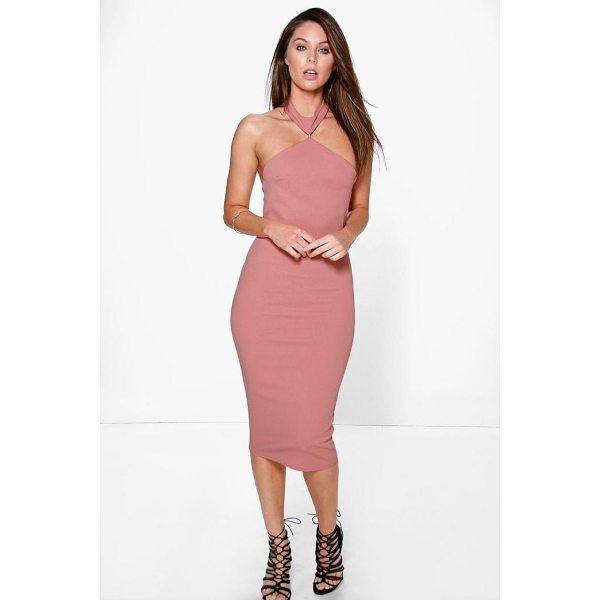 BOOHOO Serena Cutaway Neckline Detail Bodycon Dress - Dresses are the most-wanted wardrobe item for day-to-night...