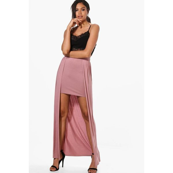 BOOHOO Shreya Basic Jersey Overlay Maxi Skirt - Skirts are the statement separate in every wardrobe This...