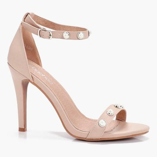 BOOHOO Sophia Pearl Trim 2 Part Heels - We'll make sure your shoes keep you one stylish step ahead...