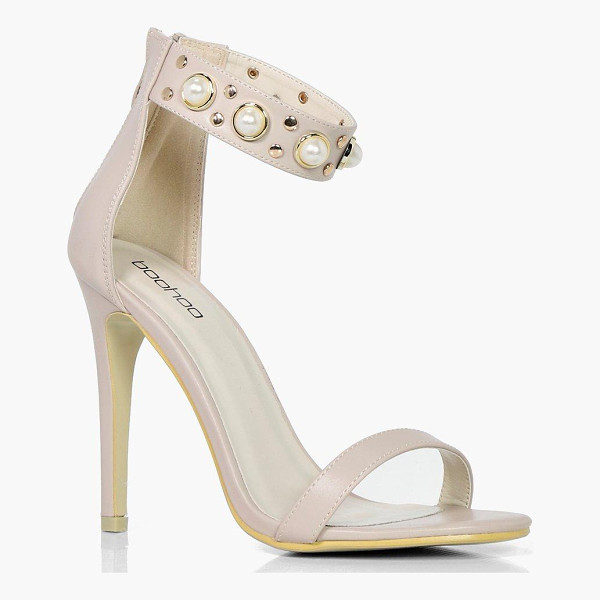 BOOHOO Sophie Pearl & Stud Embellished 2 Part Heels - We'll make sure your shoes keep you one stylish step ahead...