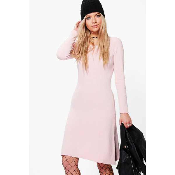 BOOHOO Sophie Skinny Fit Bodycon Knitted Dress - Sophie Skinny Fit Bodycon Knitted Dress rose